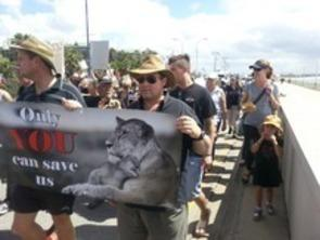 march against canned hunting 2014 pe